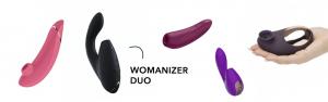 Vibrators met zuigfunctie